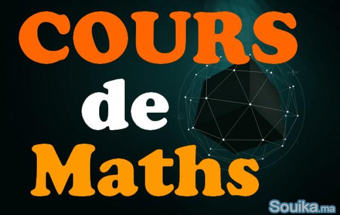 Cours maths à domicile