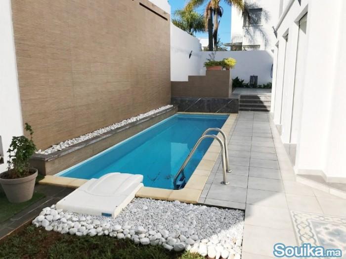 villa neuve haut standing avec piscine Hassan