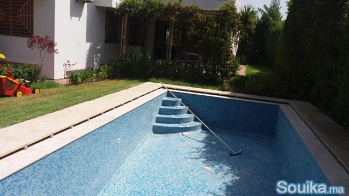 villa avec chauffage central à souissi