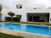villa meublée avec piscine à Hay Riad