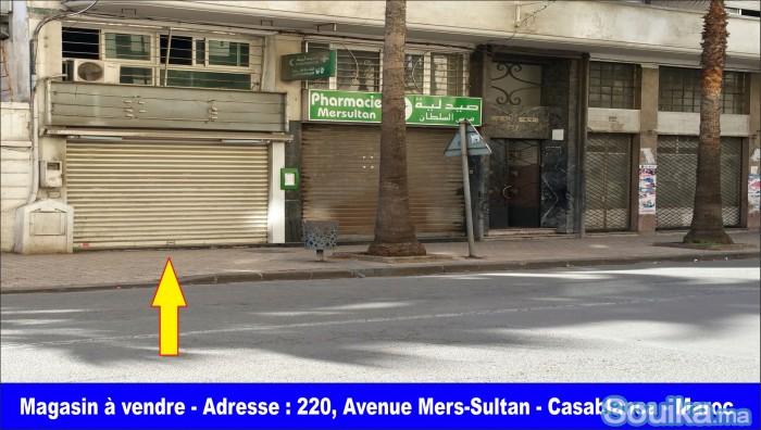 Magasin titré à vendre à Mers Sultan - Casablanca