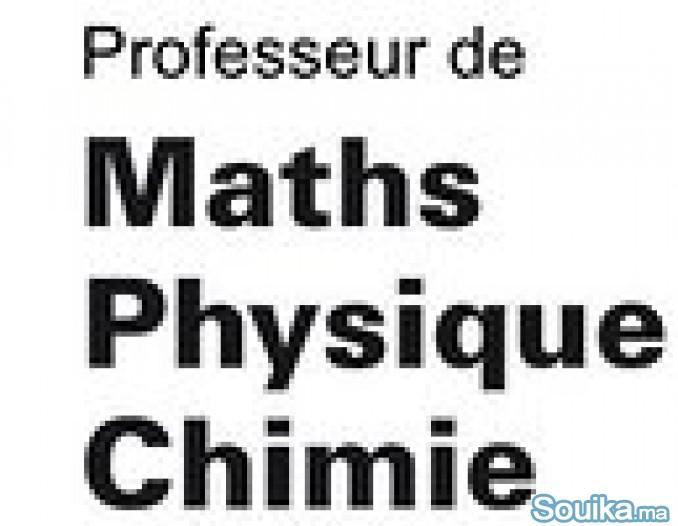 Prof de maths et physique à domicile