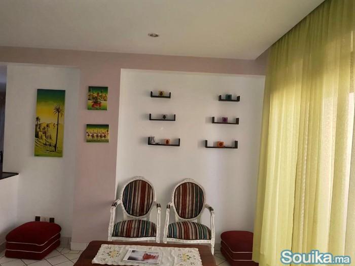 Grande appartement meublé au centre ville Hassan 2
