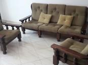 salon en bois massif
