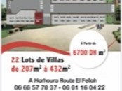 Lots de terrain villa à Harhora