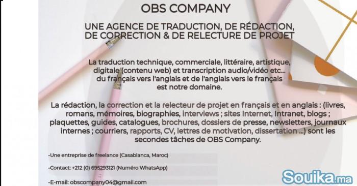 Traducteur généraliste Français-AnglaisRédacteur