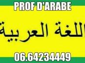 Professeur D'ARABE-Système Marocain Français et A