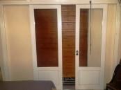 Portes vitrée colissante